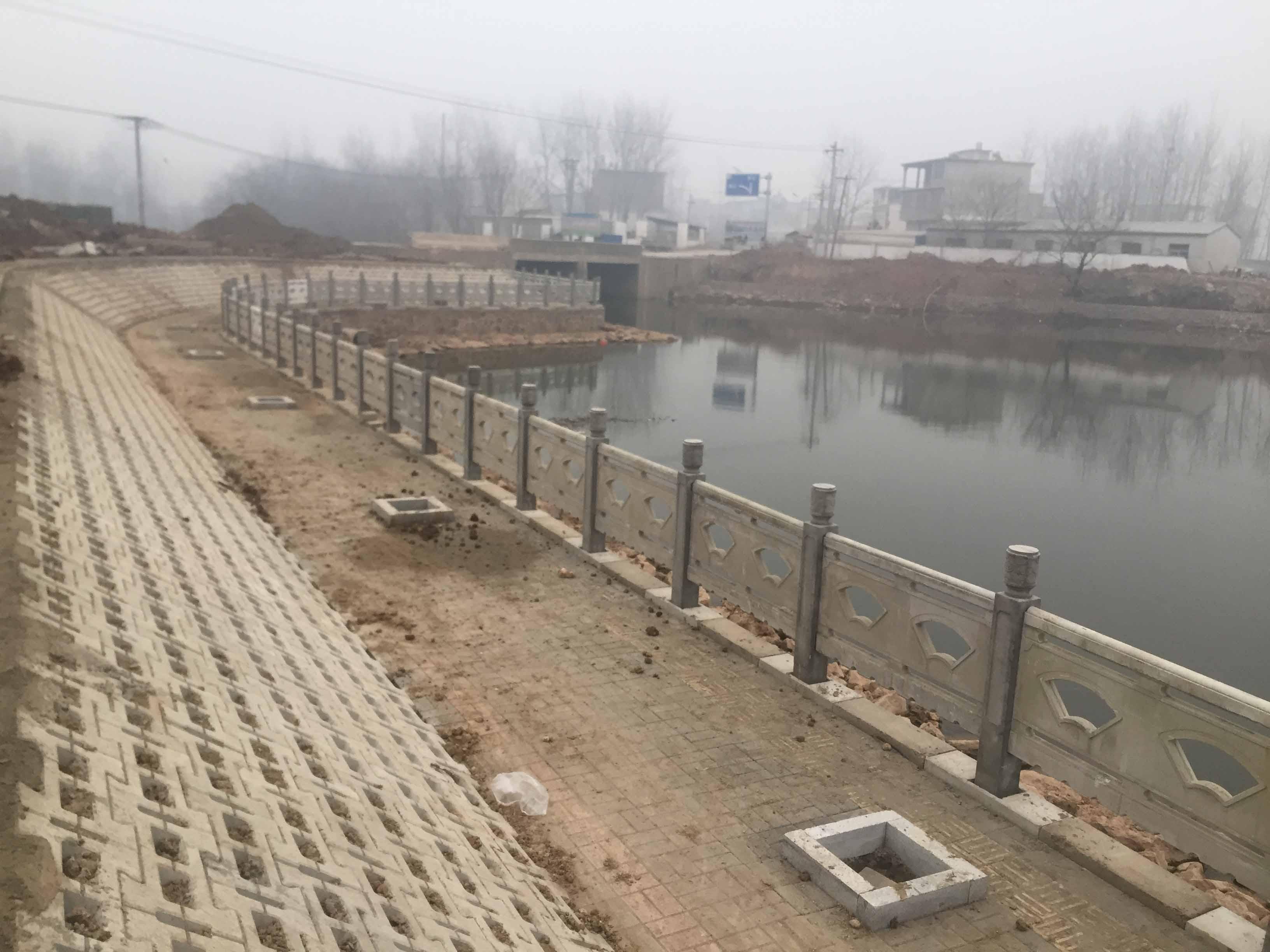 扇形仿石栏杆-滁州市百镇计划-定远县2017年美丽乡村建设一期项目能仁